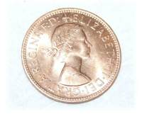 1966 One Penny - Front